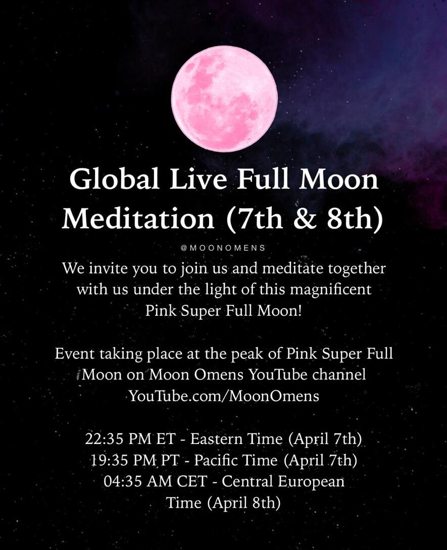 Pink Super Full Moon Meditation