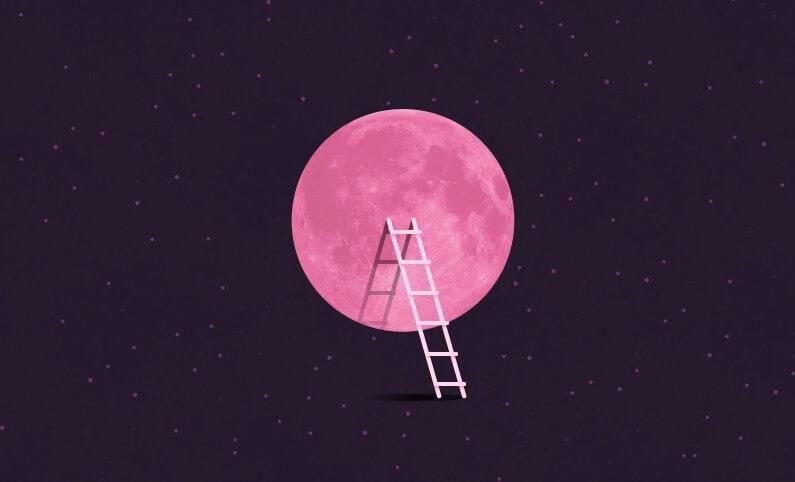 pink super full moon moon omens
