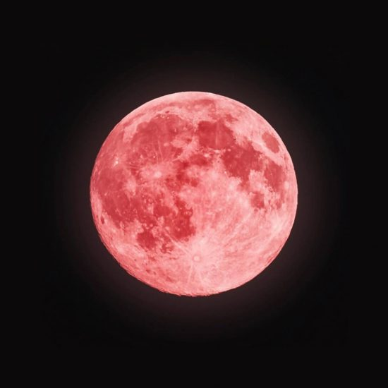 pink super full moon