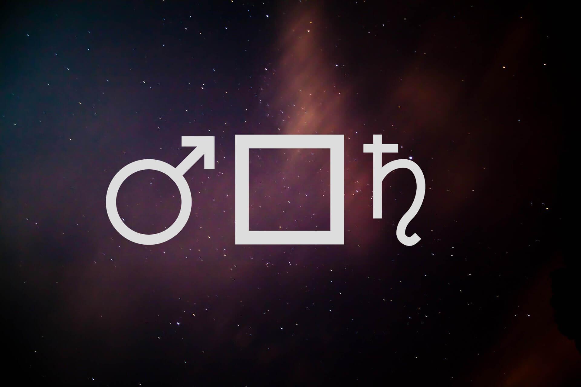 mars square saturn