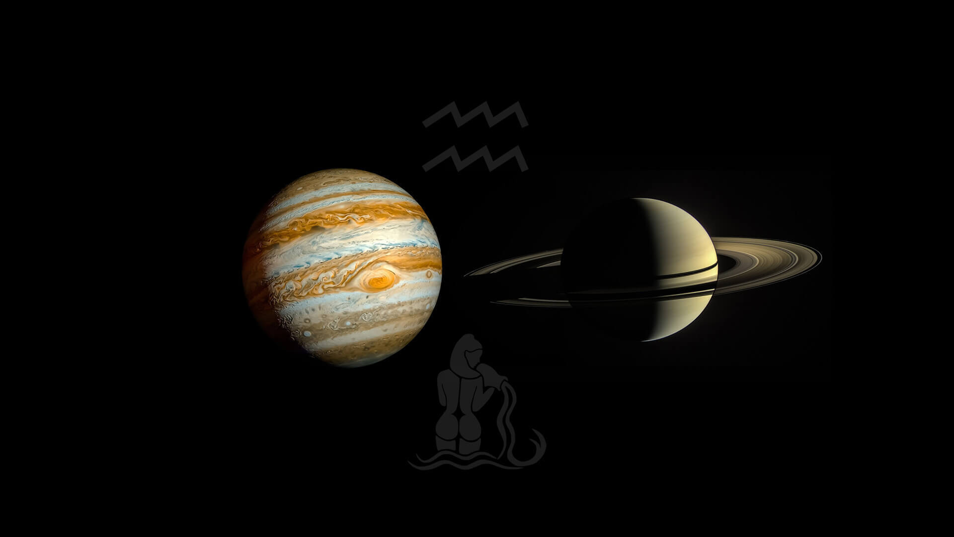 Jupiter conjunct Saturn in Aquarius