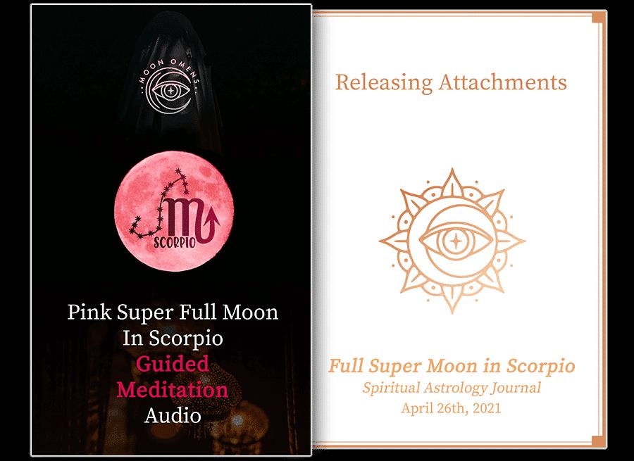 pink super full moon in scorpio mock up tools