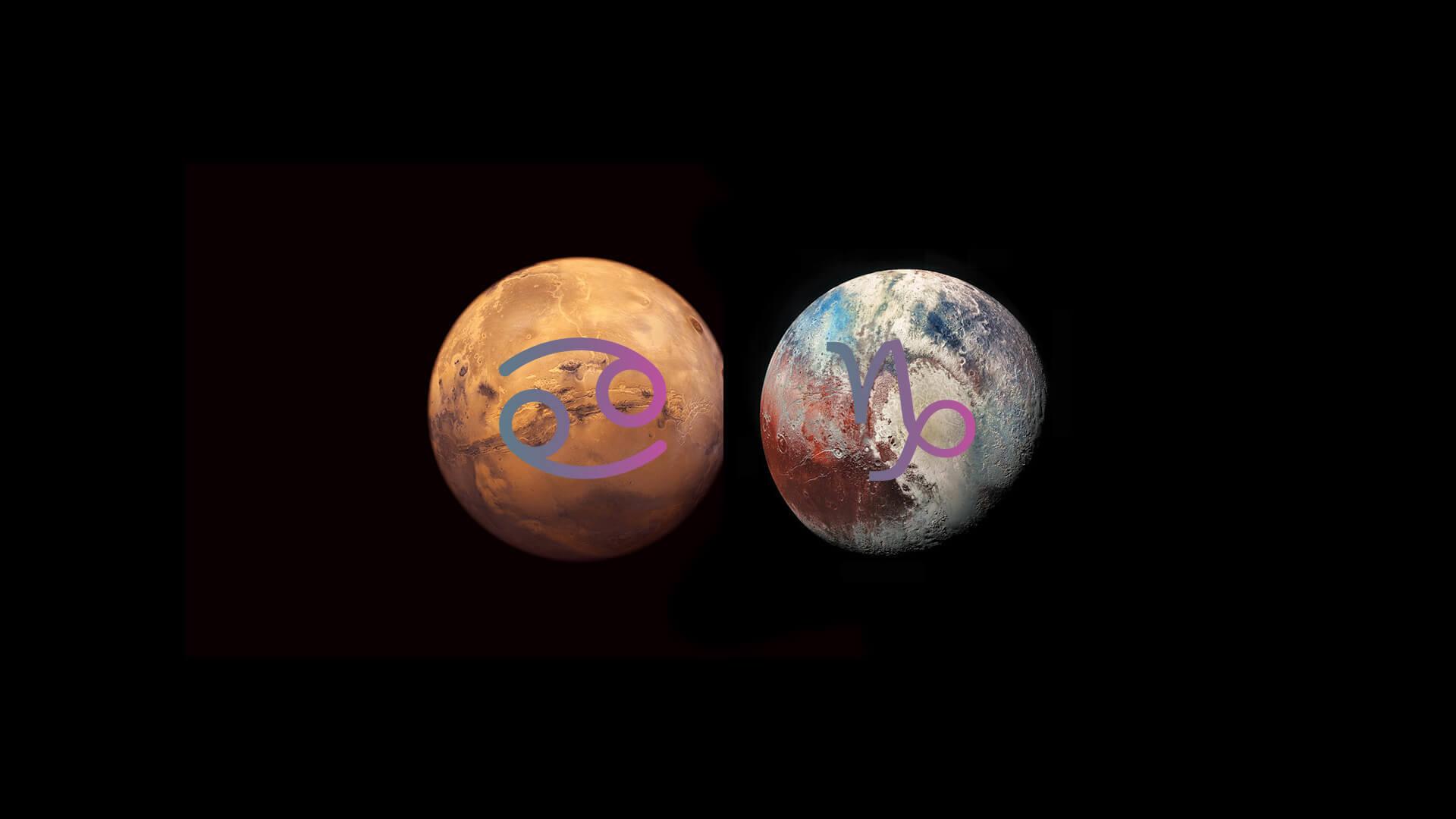 Mars opposite Pluto