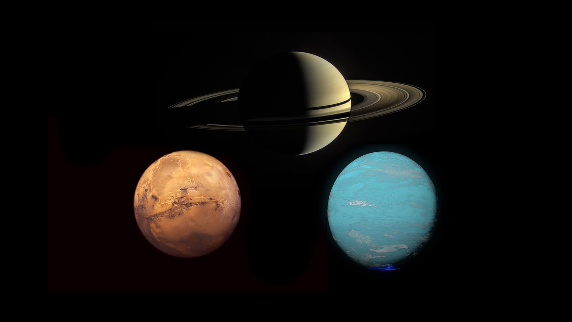 Mars opposite Saturn and square Uranus